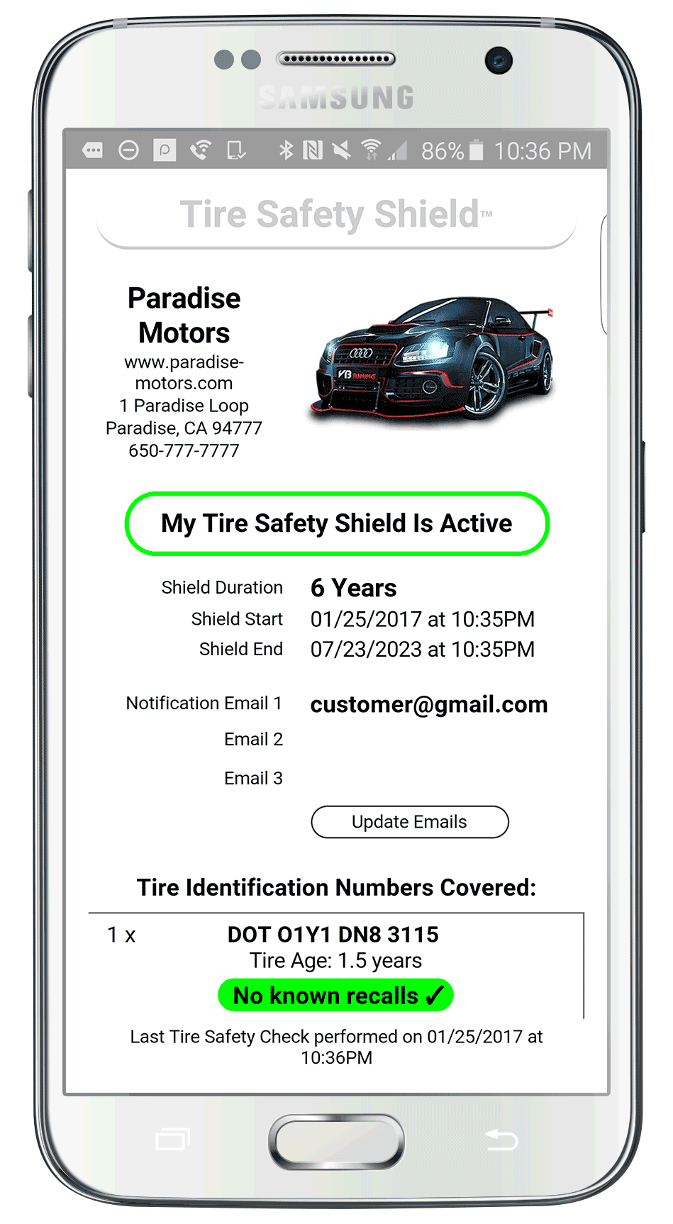 Tire Safety Shield Report